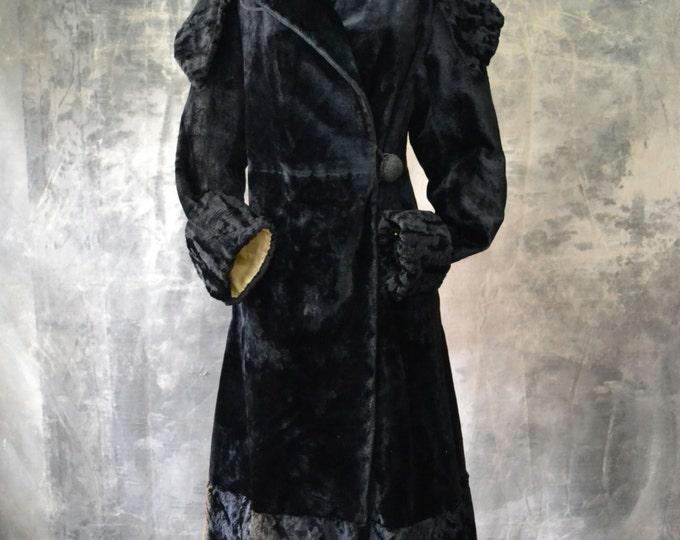 Edwardian Mohair Velvet Coat