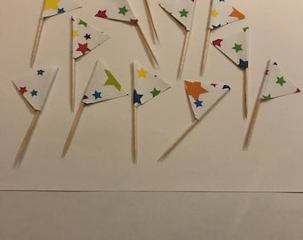 Stars cupcake toppers