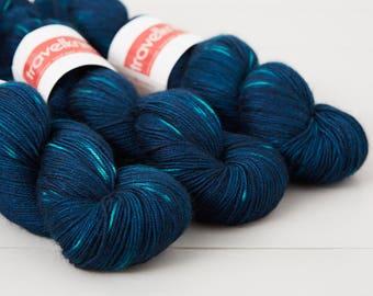 Tanami baby camel and silk 4ply yarn -  Midnight Fireflies