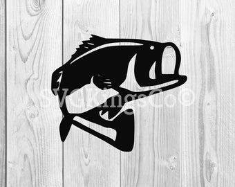Bass Fishing fish hook fresh water hunting largemouth smallmouth striped .SVG .PNG clipart vector cut cutting, bass svg,dxf