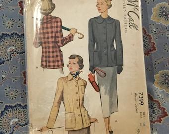 "Mc Calls jacket 40s pattern, size 16, bust 34"""