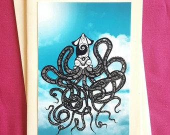 Sky Octopus - Greeting Card