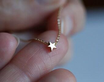 Delicate Star Necklace, Minimalist Star Necklace, 14k Gold Star Necklace, Small Dainy Star Necklace, Gold Star Charm Necklace, Necklace