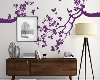 "01400 ""Branches with butterflies"" Wall Stickers Decoration trees"