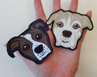Custom Dog Patch. Handmade Dog Portrait. Dog Face Textile Art.