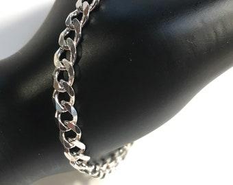 """Italian Sterling Silver Link Bracelet 6.25"""" Long"""