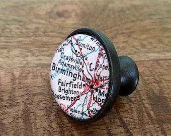 Birmingham Map Cabinet Knob - Custom Drawer Pull - DIY - Kitchen Remodel - Oil-Rubbed Brass - Renovation - HGTV - Alabama