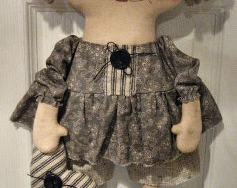 Olivia EPATTERN...primitive country cloth doll digital download sewing pattern design...plushie softie pattern...PDF...by Chestnut Junction