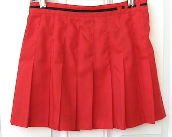 90's Red Tail Tech Tennis Skirt, Pleated, Size 8, Woman's Sports Gear,