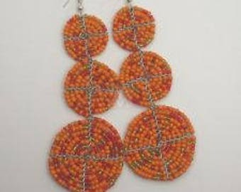 African Beaded Earrings