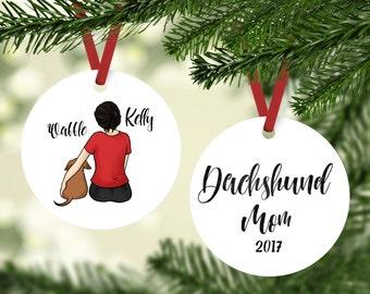 Dachshund Mom, Custom Ornament, Dachshund  Gift, Dachshund Ornament, Personalized Dachshund Ornament, Custom Dog Ornament, Doxie Mom Gift
