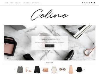 Fashion Blogger Template - Premade Blog Templates - Responsive - Blogger Theme - Blog Theme - Blogspot - Beauty Blog