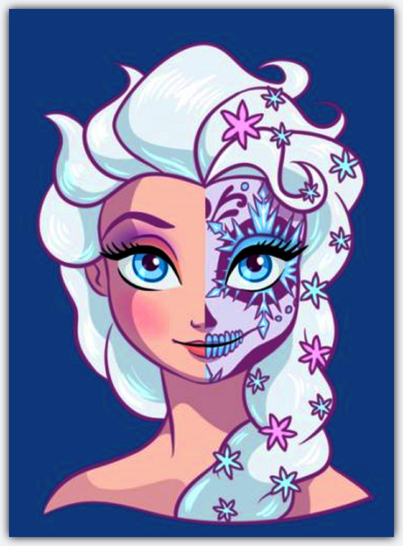 Buy 2 Get 1 Free Disney Princess Sugar Skull Elsa 278 Cross