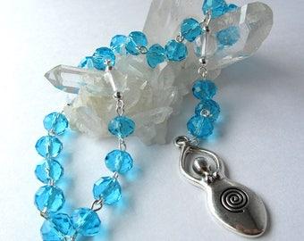 Lake Blue Goddess Rosary // Prayer Beads // Water Goddess // Ocean Goddess // Pagan // Wiccan
