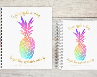 Planner | 2018 Planner | Weekly Planner | Hourly Planner | Custom Planner | Personal Planner | Life Planner | Planners |  pineapple a day