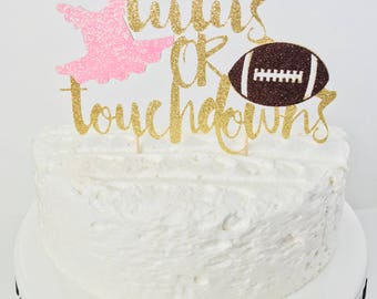 Tutus or Touchdowns Gender Reveal cake topper/ Gender reveal cake topper/ tutus or touchdowns