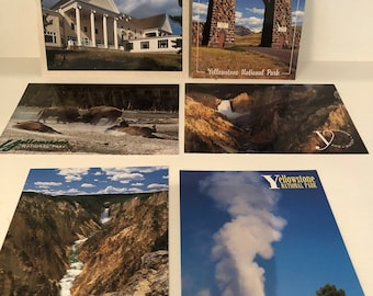 Set of 6 Vintage Yellowstone Postcards
