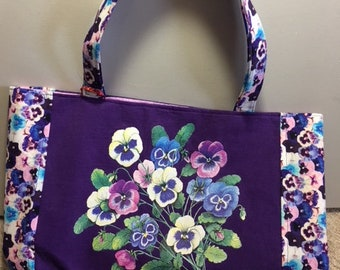 Purple Pansy Tote