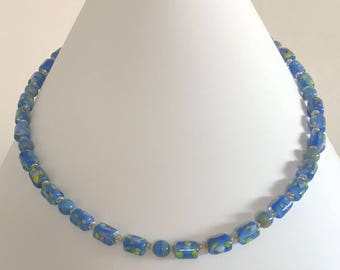 Easter Necklace- Blue, Green, Yellow