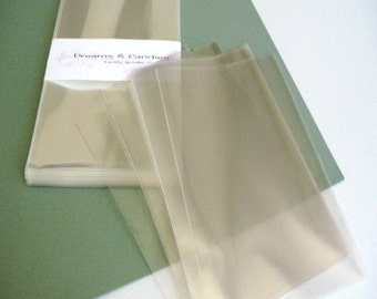 25- 5 x 7 Clear Cello Bags -Transparent Cello Bags -Food Safe Cello Bags -Clear Cellophane Bags -Food Safe Bags