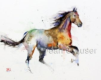 HORSE Watercolor Art Print, Horse Painting, Horse Art,  by Dean Crouser