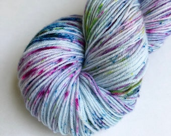Orchard in Spring colorway hand dyed sock yarn