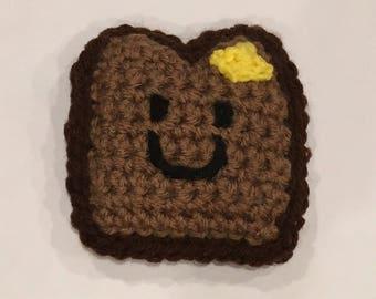 Crochet Toast Mini Plushie