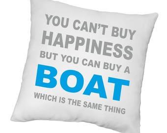 Happiness Boat Cushion Novelty Sail Pillow Sailing Boating
