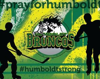 Postcard For Humboldt Broncos - All Proceeds donated to Funds for Humboldt Broncos GoFundMe page