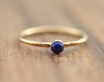 14K Gold Filled Lapis Lazuli Stacking Ring // Gold Lapis Lazuli Ring // September Birthstone Ring // Gemstone Ring // Gift for her