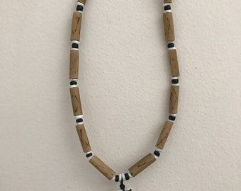 Shark Tooth Bamboo Necklace