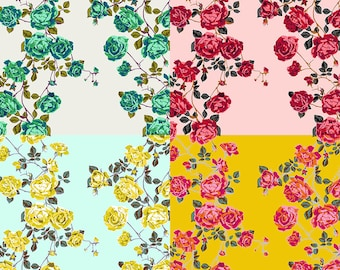 Social Climber from Floral Retrospective - Fabric Bundle by Anna Maria Horner - Collection of 4 Fat Quarters