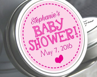 Personalized Baby Shower Mint Tins, Baby Shower Candy, Baby Shower Favors, Baby Shower Decor, It's a Girl Favors, Pink Baby Shower