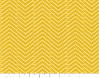 CLEARANCE - Camelot Mixology - Herringbone in Tumeric - Blender Fabric
