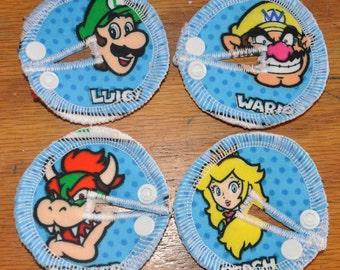 Tubie Button Cushions - Mario Theme. Set of THREE.