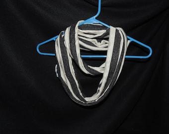 Black n White Stripes Infinity Scarf