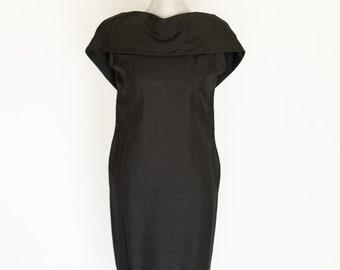 1950s  Lucille Cartelli Dress Vintage Little Black Dress