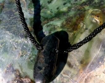 Washington Beach Jade and Leather Braided Necklace