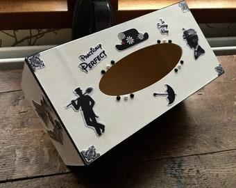 Mary Poppins decor white handkerchief box