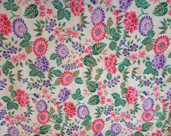 Japanese floral fabric