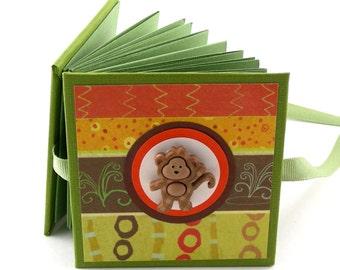 Monkey See Monkey Do Photo Book, 2x3 wallets - green, aqua, gold