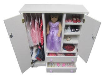 "18"" Doll Wardrobe fits American Girl Doll"
