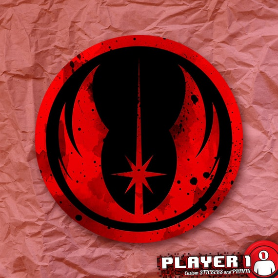 Jedi Order Symbol Star Wars Sticker From Player1stickers On Etsy Studio