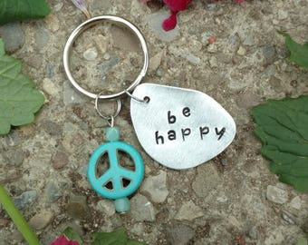 Be Happy Keychain