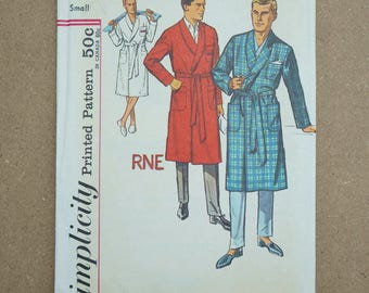 Vintage Simplicity Paper Sewing Pattern 4739 Men's Robe Size Small