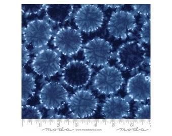Yuki Kori ~Mizu Medium Blue 48026-13 Cotton Fabric By Debbie Maddy For Moda