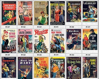 Pulp Fiction Postcards Set of 18 - JUVENILE DELINQUENTS