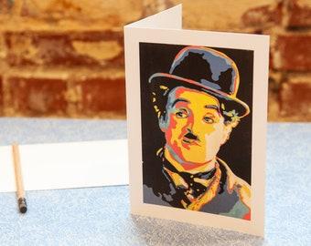 Charlie Chaplin Blank Greeting Card