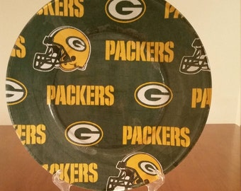 """Green Bay Packers 10"""" Round Plate"""