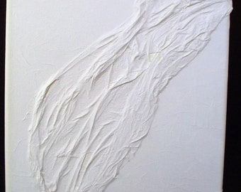 "Light and Shadow: ""crisp"", mixed media relief sculpture"